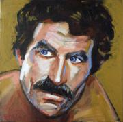 Mustache Painting Framed Prints - Thomas Sullivan Magnum IV Framed Print by Buffalo Bonker