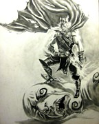 Thor Drawings Originals - Thor by Adrian Villegas
