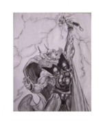 Thor Drawings - Thor by Luis Carlos A