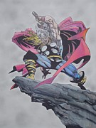 Thor Mixed Media - Thor by Tom Russick