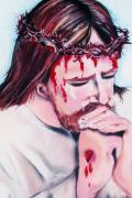 Jesus Pastels Prints - Thorns Print by Dolores Aragon