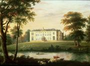 Country Scenes Painting Prints - Thorp Perrow near Snape in Yorkshire Print by English School