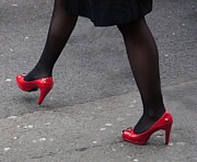 Tights Photos - Those Red Shoes by Dawn OConnor