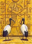 Moon Paintings - Thoth by Catherine G McElroy