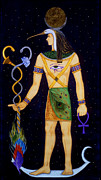 Horus Painting Metal Prints - Thoth-Djeheuty Metal Print by Diveena Marcus
