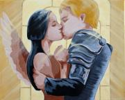 First Love Painting Prints - Thou Romeo Print by Juliet Magill