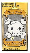Revelation Drawings - Thou Shalt Not Murder by Chayla Dion Amundsen-Noland