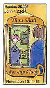 Worship God Drawings - Thou Shalt Worship No Idols by Chayla Dion Amundsen-Noland