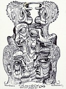 Art Brut Drawings - Thought by Robert Wolverton Jr