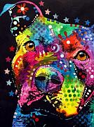 Pitbull Art - Thoughtful Pit by Dean Russo