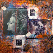 Female Art Mixed Media Print Originals - Thoughts 2 by Chris Bradley