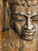 Buddhism Metal Prints - Thoughts Metal Print by Juul