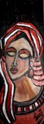 African Art Portrait Paintings - Thoughts by Laura Fatta