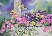 Bird-feeder Prints - Thoughts Of You Print by Deborah Ronglien