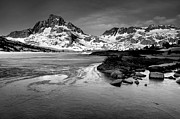 Ansel Adams Framed Prints - Thousand Island Lake, Mt. Ritter And Banner Peak Framed Print by David Kiene