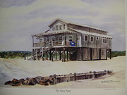 Beach Towel Prints - Thr Gray Barn at Pawleys Island Print by Anna Barnwell-Williams