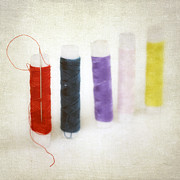 Sewing Prints - Thread Reels Print by Joana Kruse