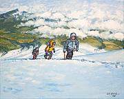 Mountain Climbing Paintings - Three Amigos by Erik Schutzman