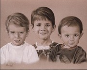Photorealism Pastels Prints - Three Amigos Print by Nanybel Salazar