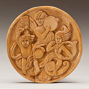 Woodcarving Reliefs Originals - Three Angels by James Neill