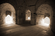 Architectural Details Photo Prints - Three Arches in Qaitbay Print by Donna Corless