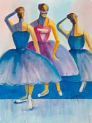 Dresses Prints - Three Ballerinas Print by Mary DuCharme