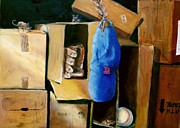 Baseball Glove Paintings - Three Blind Mice by Edward Merrell