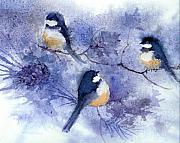 Chickadee Originals - Three Chickadees by Peggy Wilson