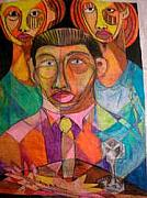 Nappy Head Art Mixed Media - Three Children by Robert Daniels