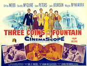 1950s Movies Prints - Three Coins In The Fountain, Clifton Print by Everett