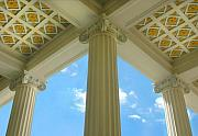 Columns Metal Prints - Three Columns Metal Print by Dan Holm