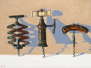 Virginia Wine Art Prints - Three Corkscrews Number One Print by Christopher Mize