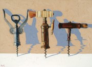 Virginia Wine Art Prints - Three Corkscrews Number Two Print by Christopher Mize