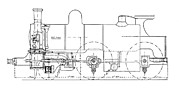 Technical Photo Posters - Three-cylinder Compound Steam Locomotive Poster by Mark Sykes