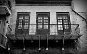 French Door Prints - Three Door Balcony 2 Print by Perry Webster