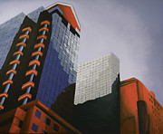 Skyscraper Paintings - Three by Duane Gordon