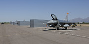 Davis Photos - Three F-16s Sit In The Revetments by HIGH-G Productions