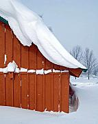 Snow Drifts Prints - Three Feet of Partly Sunny Print by Diane E Berry