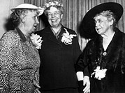 Three Former First Ladies, L-r Bess Print by Everett