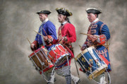 Reenactor Framed Prints - Three French Drummers Framed Print by Randy Steele