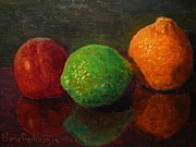 Terry Perham Prints - Three Fruit Print by Terry Perham