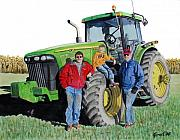 John Deere Paintings - Three Generations by Ferrel Cordle