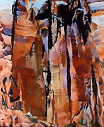 Abiquiu Paintings - Three Ghosts by Roger Clark