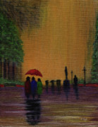 Rainy Day Paintings - Three Gossips by Gordon Beck