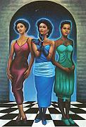 Three Pastels Metal Prints - Three Graces  Metal Print by  Albert Fennell