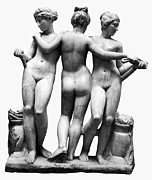 Greek Sculpture Posters - Three Graces Poster by Granger