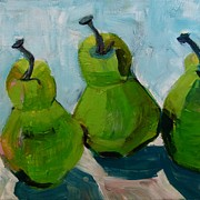 Suzanne Willis Metal Prints - Three Green Pairs Metal Print by Suzanne Willis