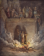 Martyr Prints - Three Hebrews In Furnace Print by Granger