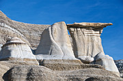 Hoodoos Prints - Three Hoodoos Alberta Print by David Kleinsasser