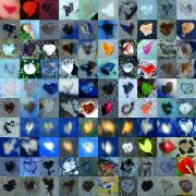 Abstract Hearts Posters - Three Hundred Series Poster by Boy Sees Hearts